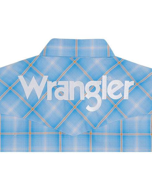 Wrangler Men's Blue Western Logo Long Sleeve Shirt , Blue, hi-res