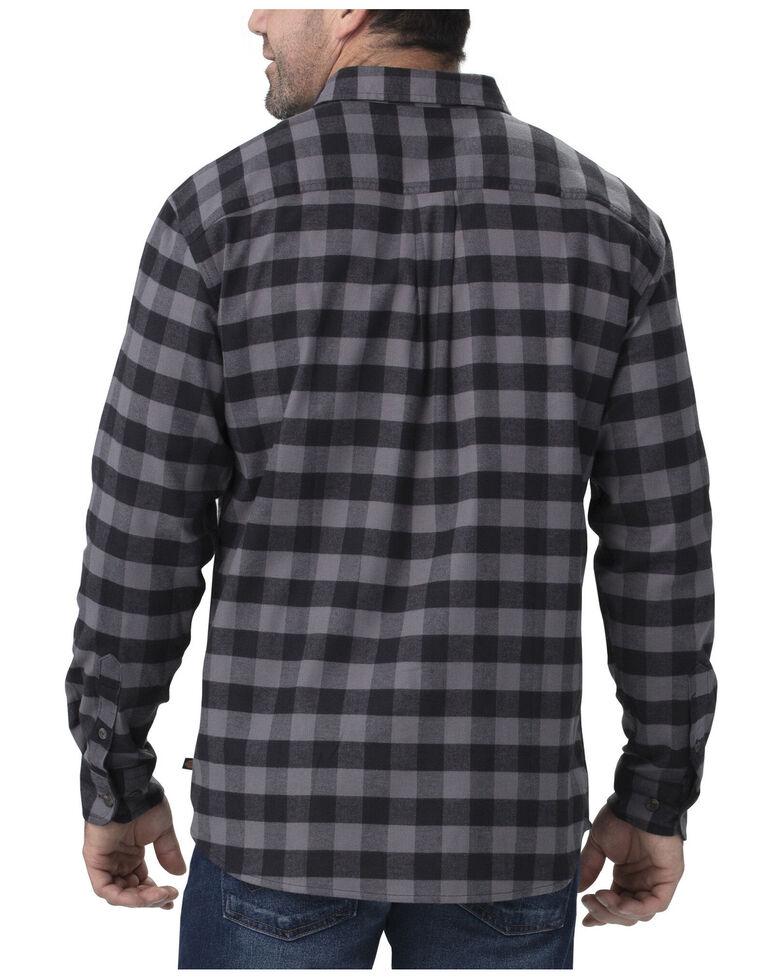 Dickies Men's Flex Flannel Long Sleeve Stretch Work Shirt - Big , Slate, hi-res