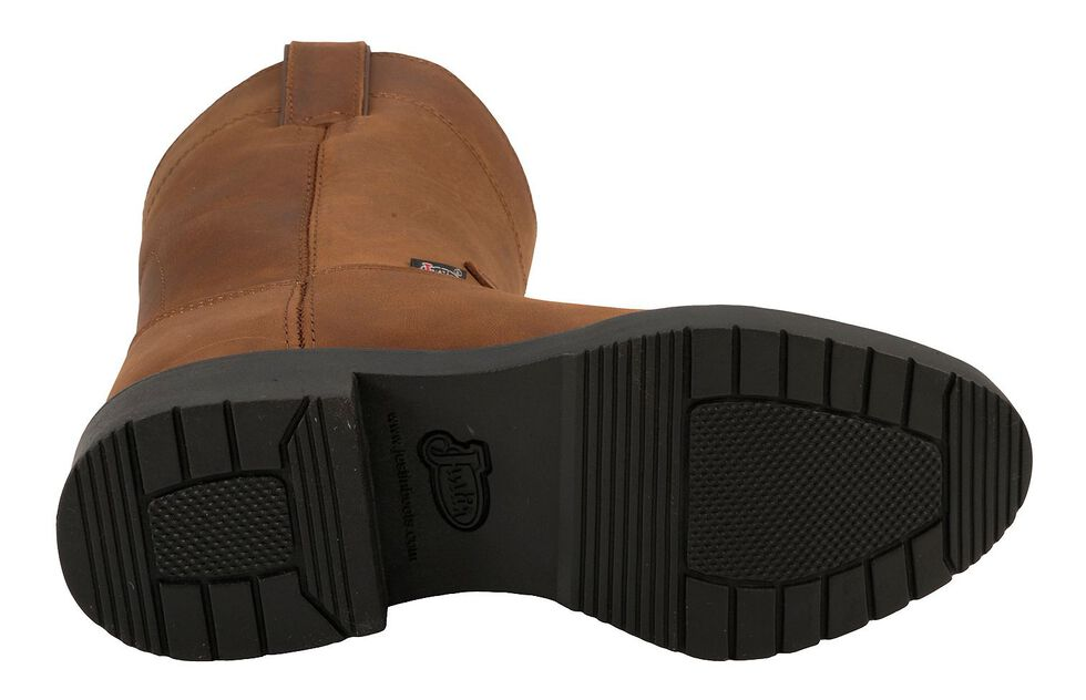 Justin Youth Boys' Aged Bark Pull-On Work Boots - Round Toe, Aged Bark, hi-res
