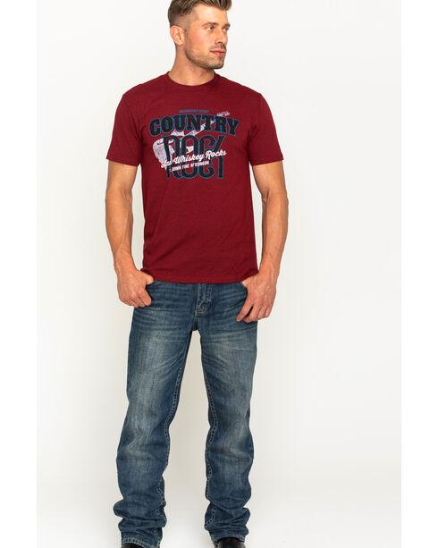 Moonshine Spirit Men's Country Rock Short Sleeve T-Shirt , Heather Red, hi-res