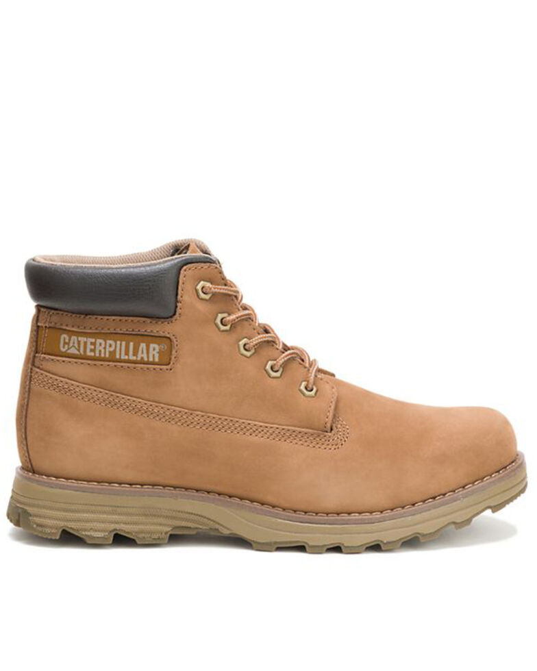 Caterpillar Men's Founder Boston Lace Up Work Boots, Brown, hi-res