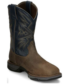 Tony Lama Men's Bartlett Stone Western Work Boots - Steel Toe, Brown, hi-res