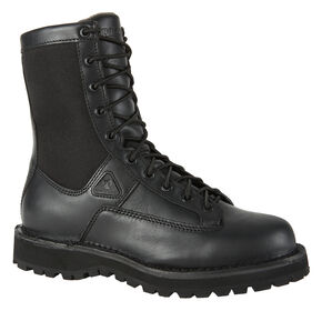 Rocky Portland Waterproof Lace-To-Toe Duty Boots - Round Toe, Black, hi-res