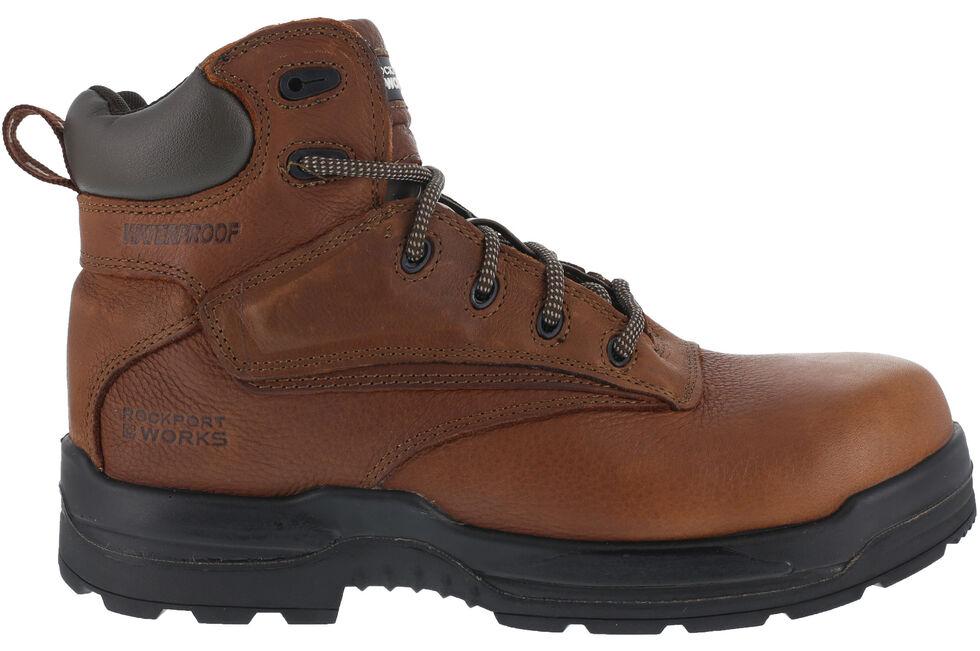"Rockport Men's More Energy Deer Tan 6"" Lace-Up Work Boots - Composite Toe, Brown, hi-res"