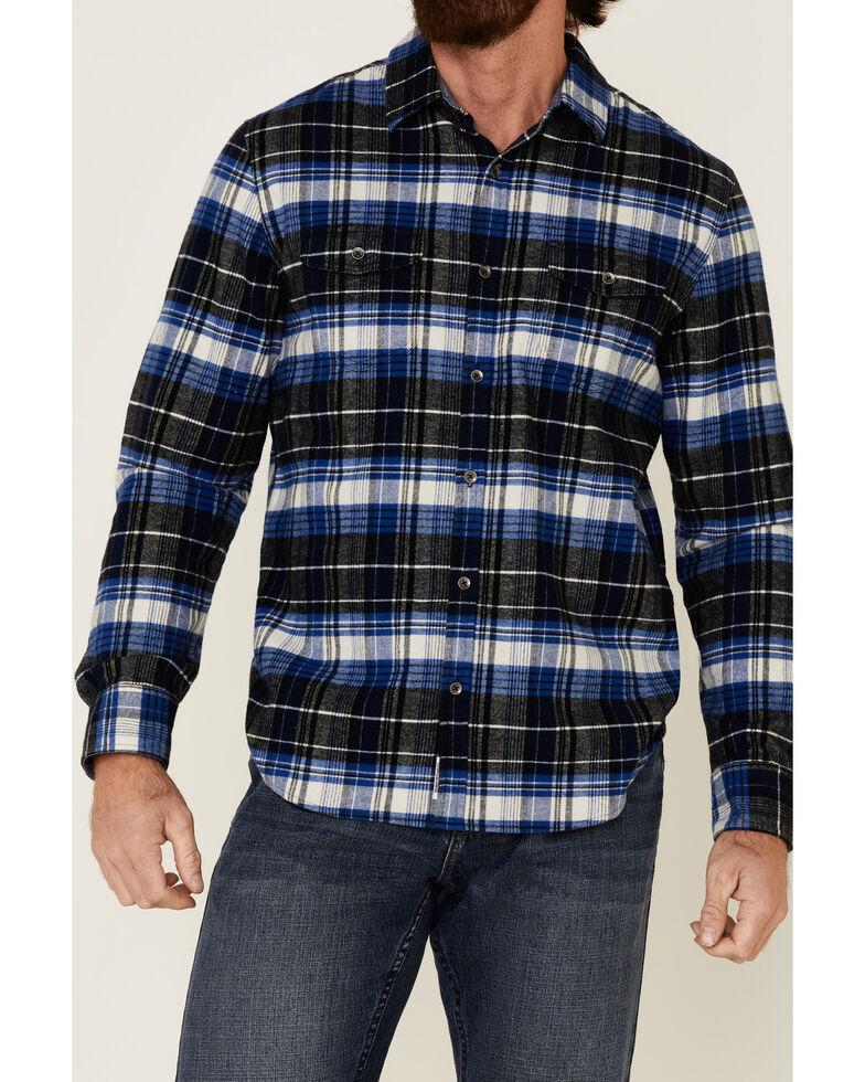 Flag & Anthem Men's Lowellville Stretch Plaid Long Sleeve Western Flannel Shirt , Black, hi-res