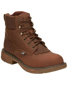 Justin Men's Rush Lacer Work Boots - Soft Toe, Brown, hi-res