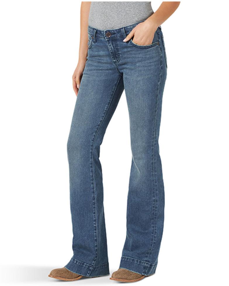 Wrangler Retro Women's Medium Wash Vicki Mae Trousers , Blue, hi-res