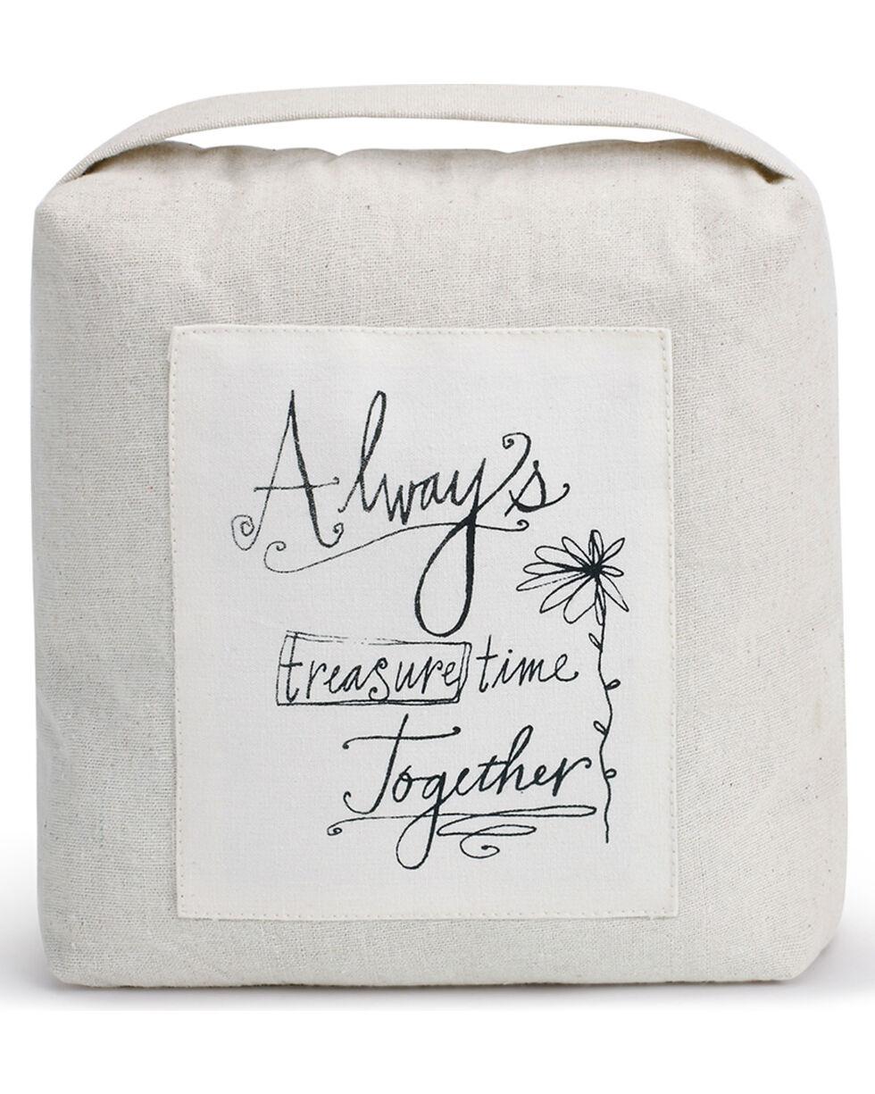 Demdaco Treasure Time Together Door Stopper , White, hi-res