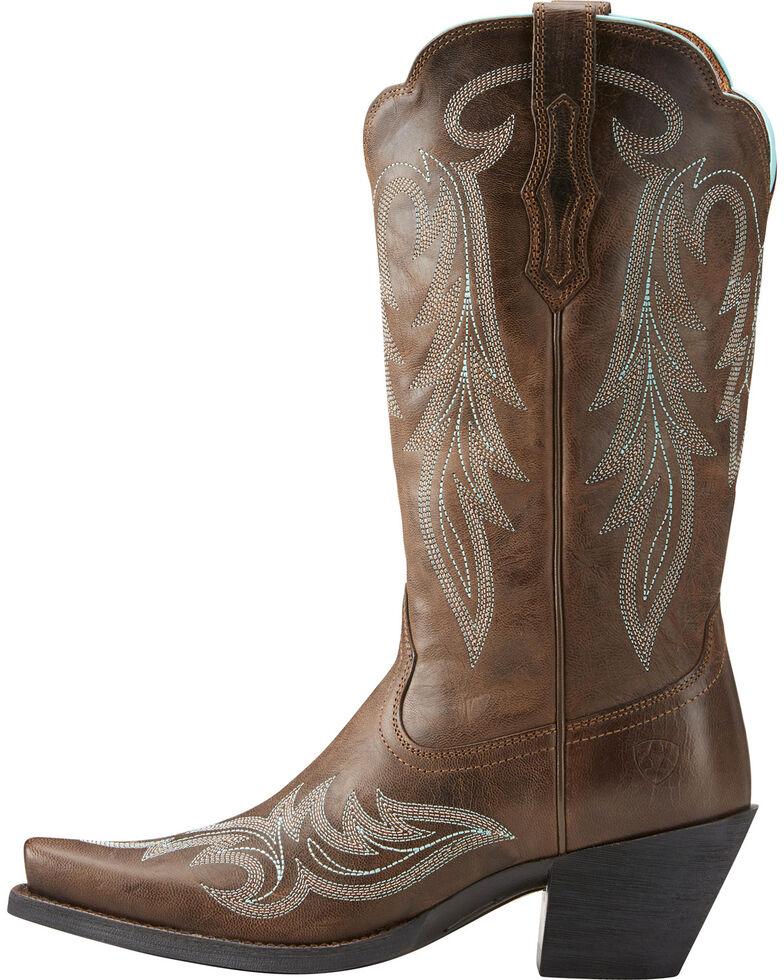 Ariat Women's Brown Round Up Renegade Boots - Snip Toe , Brown, hi-res