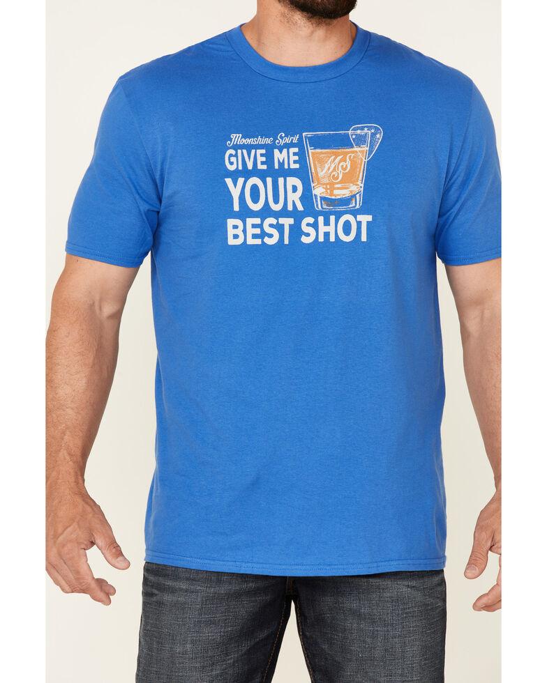 Moonshine Spirit Men's Best Shot Graphic Short Sleeve T-Shirt , Royal Blue, hi-res