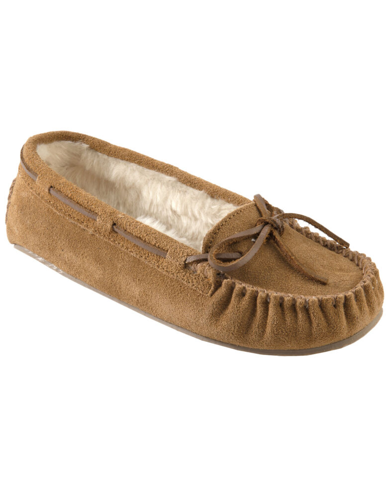 Minnetonka Cally Lined Slipper Moccasins, Cinnamon, hi-res