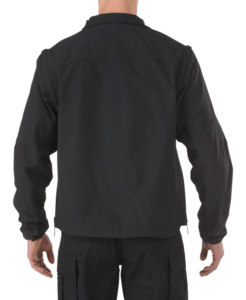 5.11 Tactical Valiant Softshell Jacket - 3XL-4XL, Black, hi-res