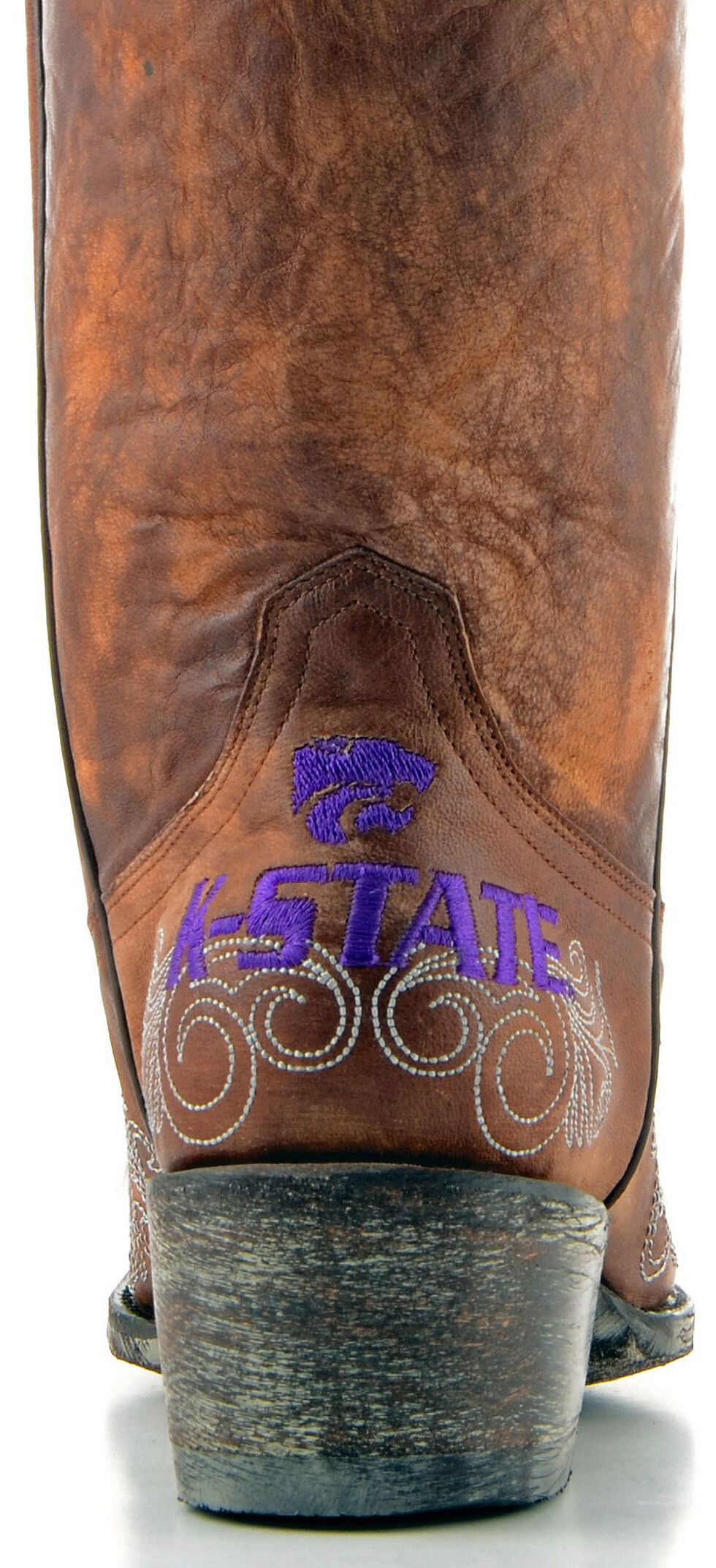 Gameday Kansas State University Cowgirl Boots - Pointed Toe, Brass, hi-res