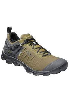 Keen Men's Venture Waterproof Hiking Boots - Soft Toe, Green, hi-res