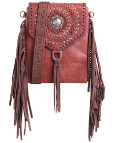 Montana West Women's Fringe Crossbody Bag, Tan, hi-res