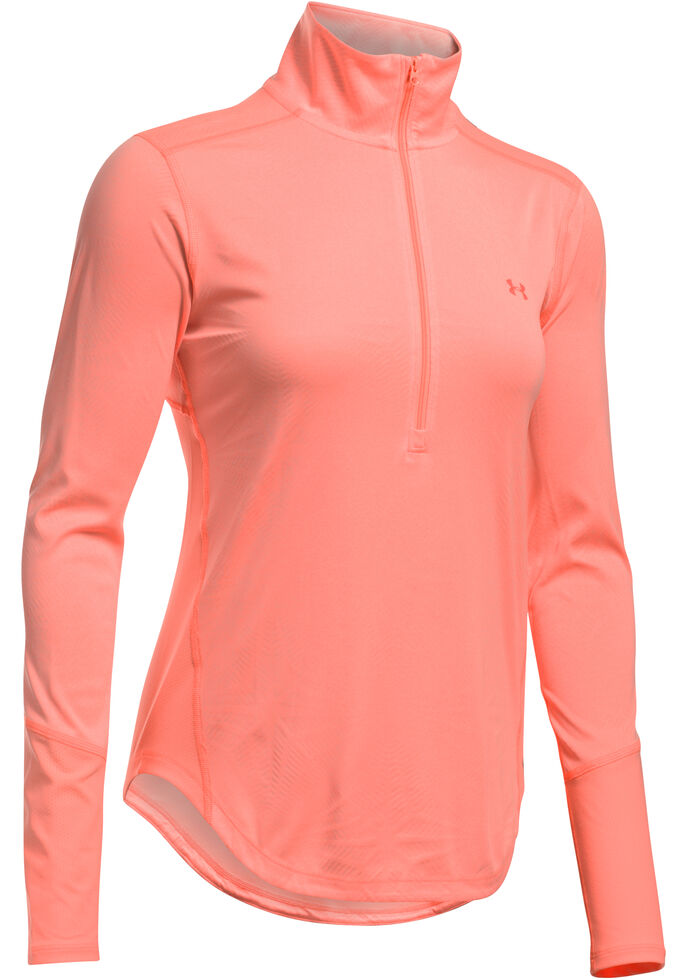 Under Armour Womens Coral Coolswitch Thermocline 14 Zip Pullover