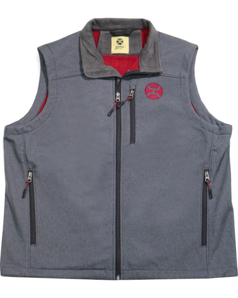 0a2624a96b Zoomed Image HOOey Men's Grey Crimson Logo Vest , Grey, hi-res