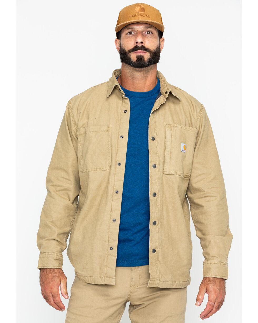 Carhartt Men's Rugged Flex Rigby Shirt Jacket , Beige/khaki, hi-res