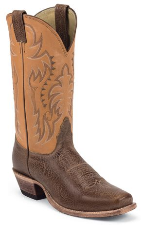 Nocona Legacy Cowboy Boots - Square Toe, Honey, hi-res