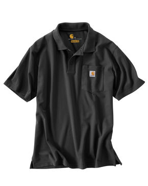 Carhartt Contractor's Work Pocket Polo Shirt - Big & Tall, Black, hi-res