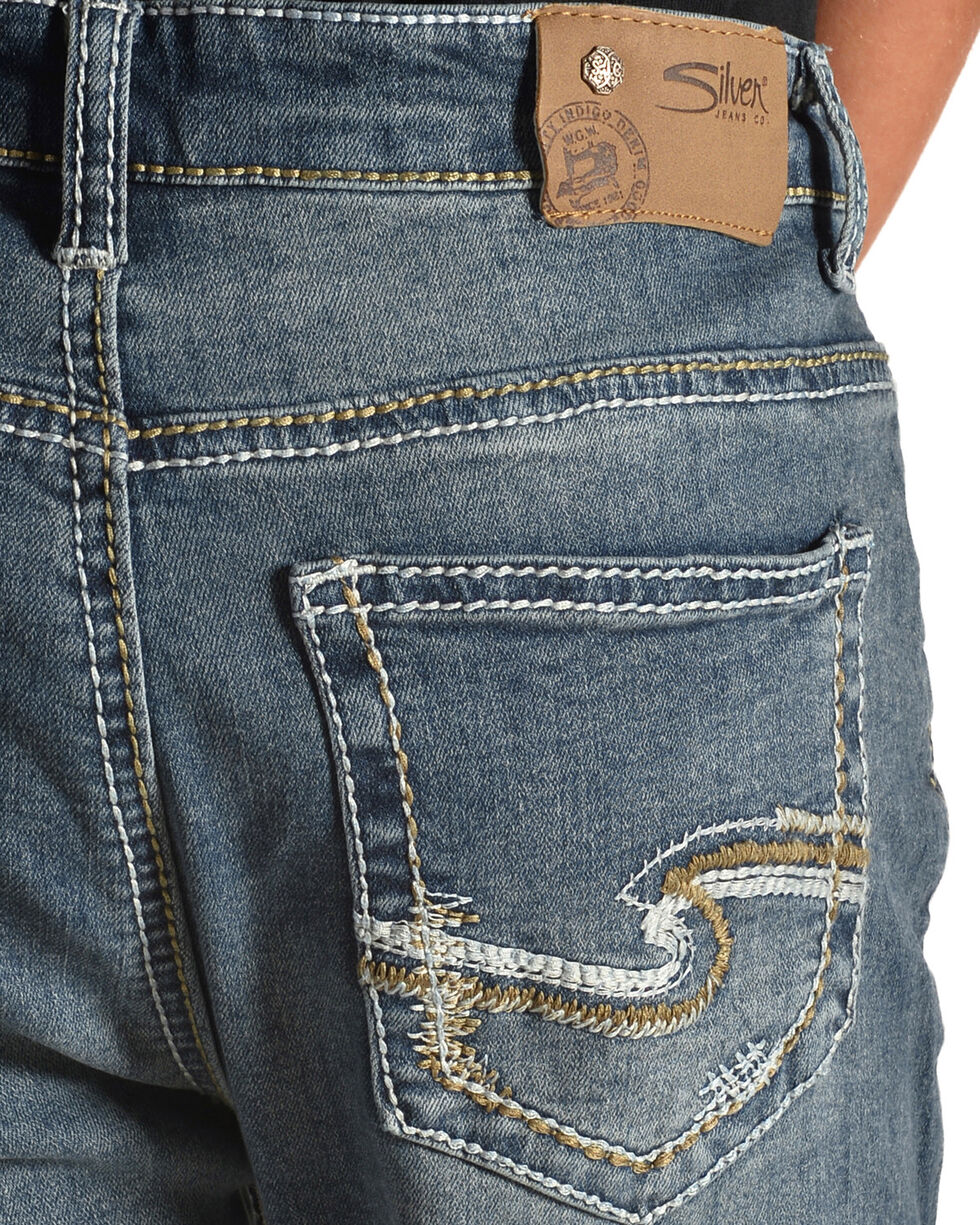 Silver Boys' (8-16) Zane Medium Wash Jeans - Boot Cut , Indigo, hi-res