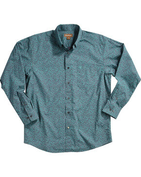 Ariat Men's Blue Aromas Print Western Shirt , Blue, hi-res