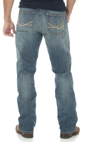 Wrangler 20X Men's 42 Vintage Boot Medium Wash Jeans, Indigo, hi-res