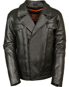 70aa5fbfce1 Milwaukee Leather Mens Utility Vented Cruiser Jacket