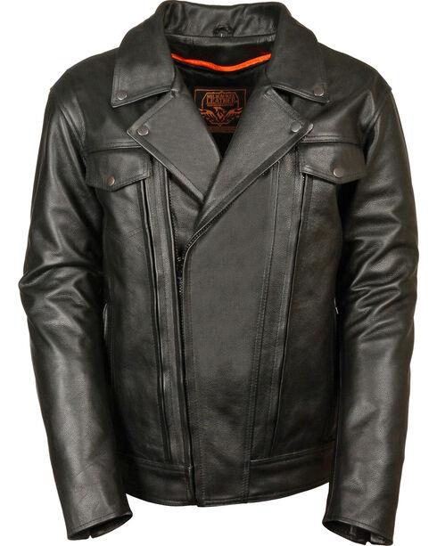 Milwaukee Leather Men's Utility Vented Cruiser Jacket - 4X, Black, hi-res