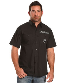 Jack Daniel's Men's Black Jack Daniel's Shop Short Sleeve Western Shirt , Black, hi-res