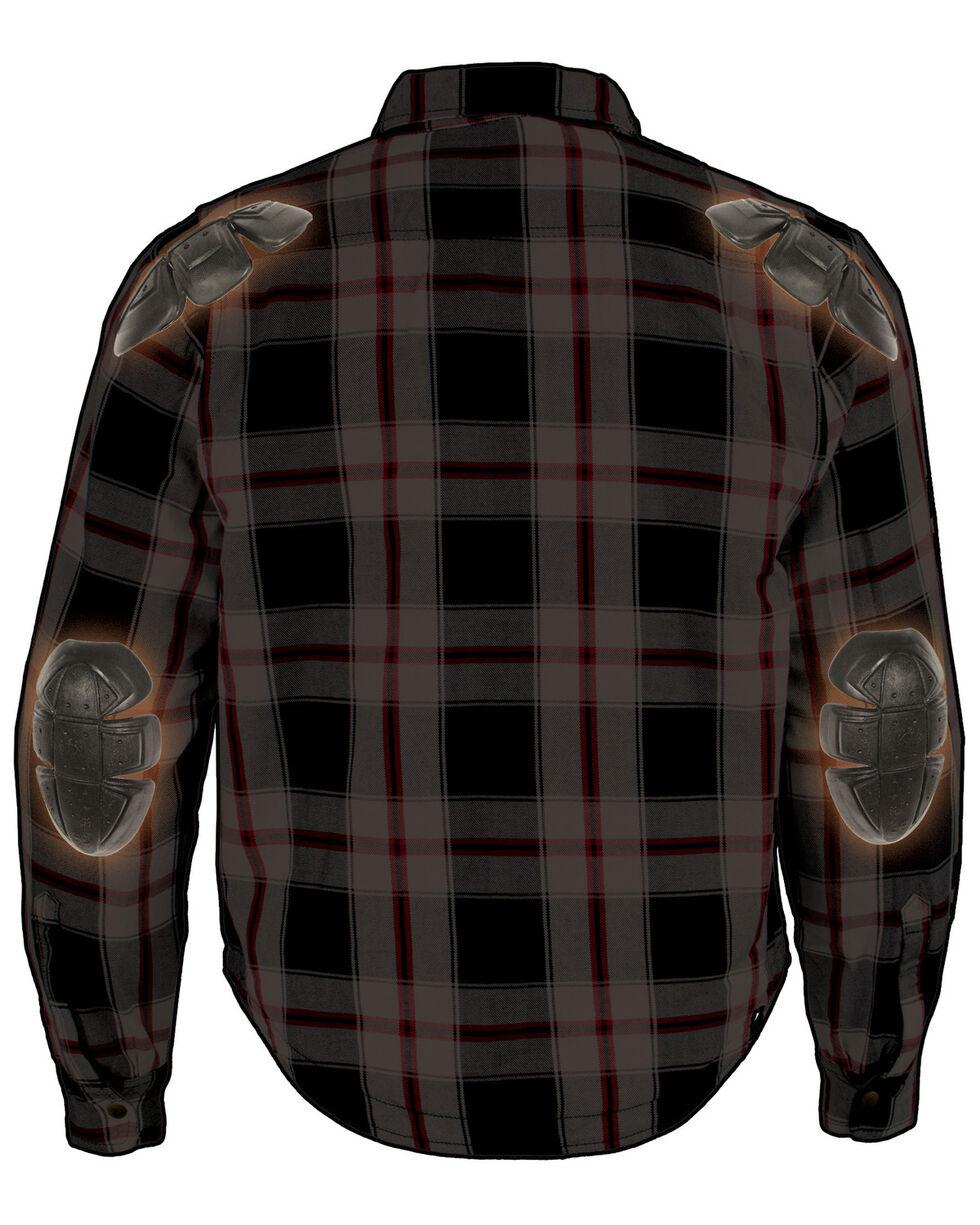 Milwaukee Performance Men's Aramid Reinforced Plaid Flannel Biker Shirt - 3X, Black/red, hi-res