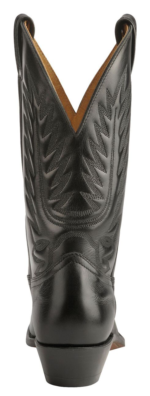 Boulet Dress Cowboy Boots - Round Toe, Black, hi-res