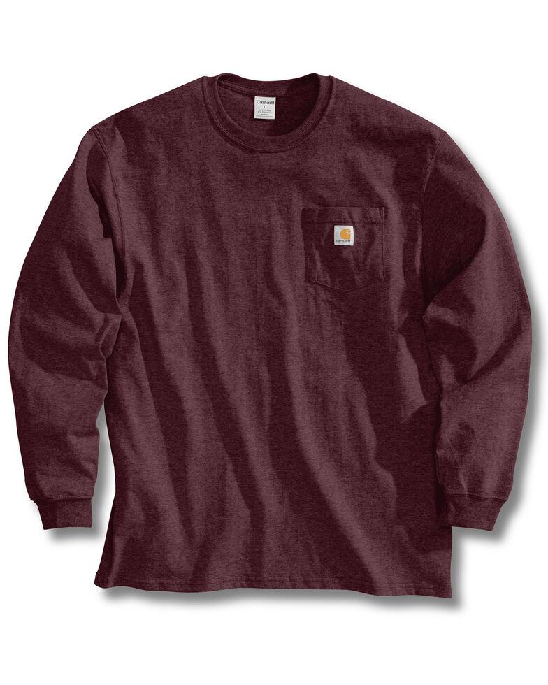 Carhartt Men's Pocket Long Sleeve Work Shirt - Tall, Port, hi-res