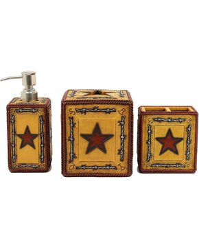 Western Moments Big Star 3-Piece Vanity Set, Multi, hi-res