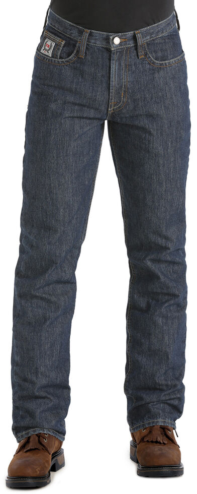 "Cinch Men's White Label WRX Flame Resistant Jeans - 38"" inseam, Dark Denim, hi-res"