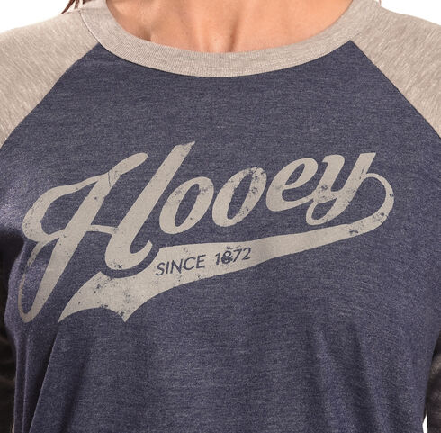 Hooey Women's Blue Script Baseball T-Shirt, Blue, hi-res