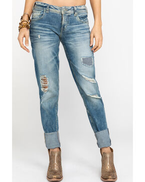 Silver Jeans Women's The Mom High Rise Jeans, Indigo, hi-res
