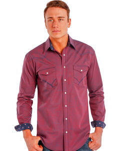 Rough Stock by Panhandle Slim Iridescent Red Snap Western Shirt , Red, hi-res