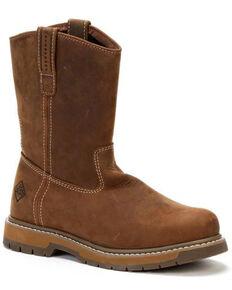 Muck Boots Men's Wellie Western Work Boots - Soft Toe, Dark Brown, hi-res