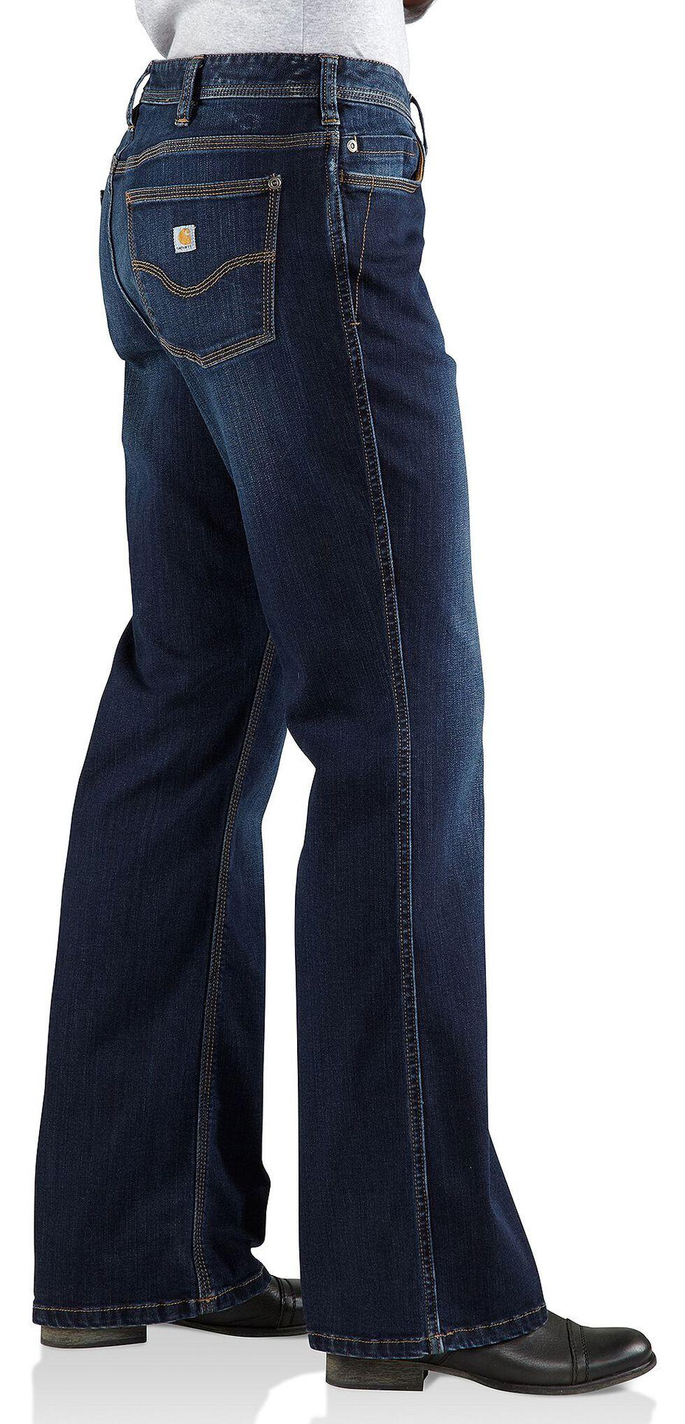 Carhartt Women's Relaxed Fit Denim Jasper Jeans, Dark Indigo, hi-res