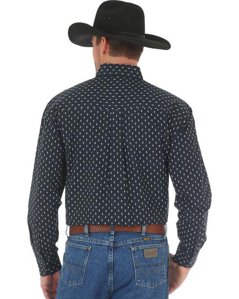 Wrangler Men's George Strait Printed Poplin Shirt , White, hi-res