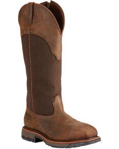 Ariat Workhog Waterproof Snake Work Boots - Composite Toe, Brown, hi-res