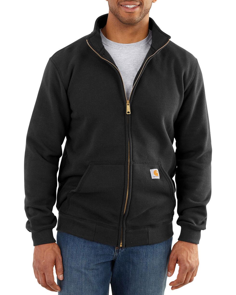 Carhartt Men's Haughton Mock Neck Zip Sweatshirt - Big and Tall, Black, hi-res