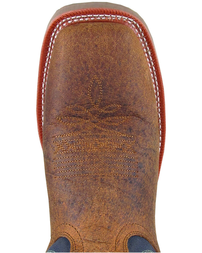 Smoky Mountain Men's Parker Western Boots - Square Toe, Brown/blue, hi-res