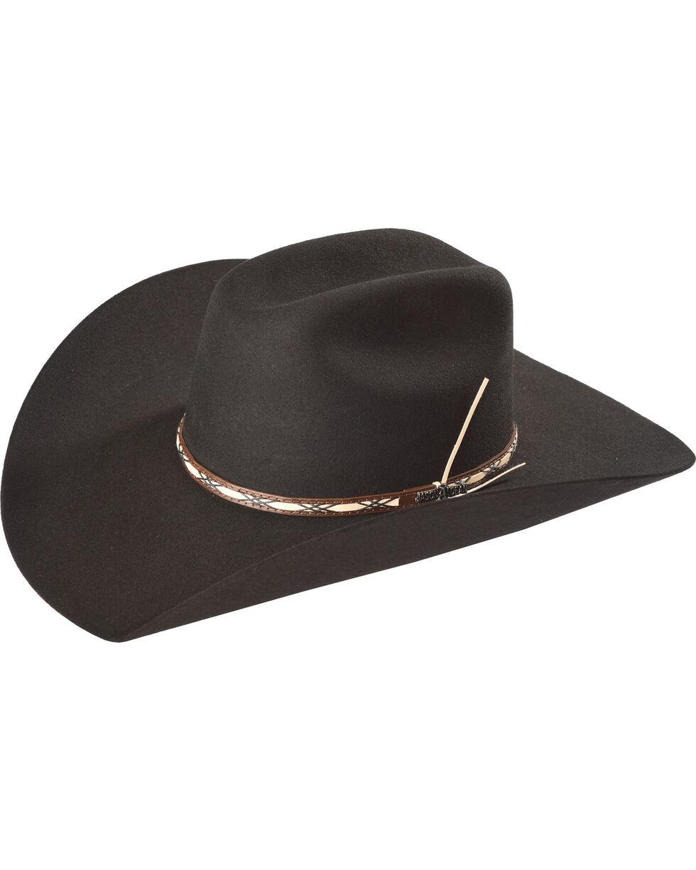 Jason Aldean Amarillo Sky Felt Cowboy Hat, Black, hi-res