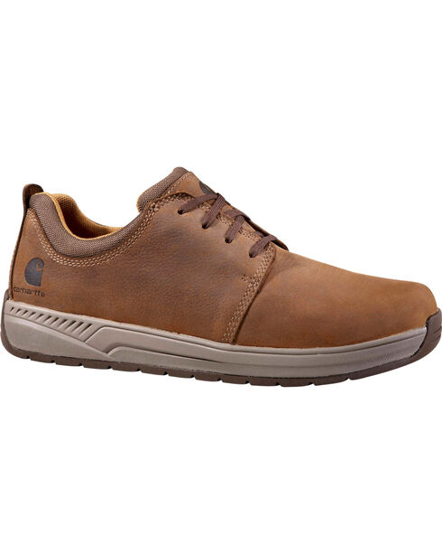 Carhartt Men's Brown Oxford Work Shoes - Round Toe, Chocolate, hi-res