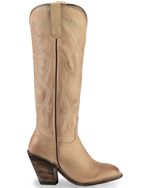Lucchese Eggshell Vanessa Cowgirl Boots - Round Toe, Natural, hi-res
