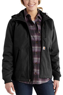 Carhartt Quick Duck Jefferson Jacket, Black, hi-res