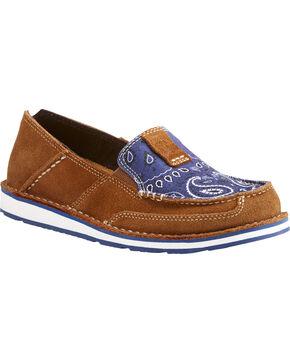 Ariat Women's Blue Paisley Print Slip On Cruiser Shoes , Multi, hi-res