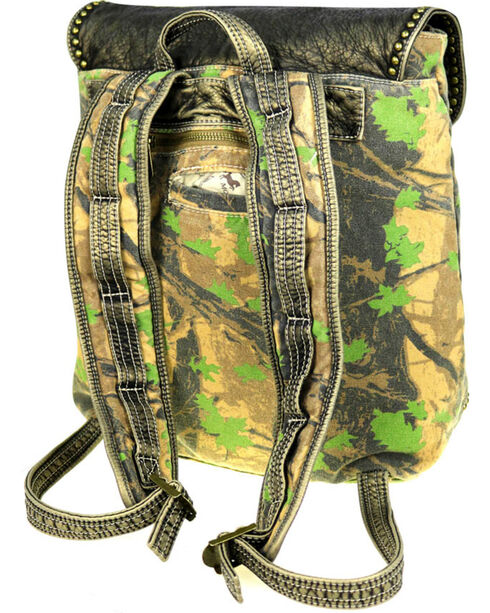 Montana West Stone Washed Canvas Travel Backpack, Green, hi-res